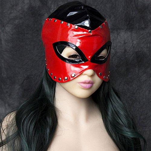 dairyshop Halloween sexy Slave Fetisch Maske, gepolsterte Augenbinde Elastic Kopfbedeckung Kopf Kapuze (Maske Für Scary Verkauf Clown)