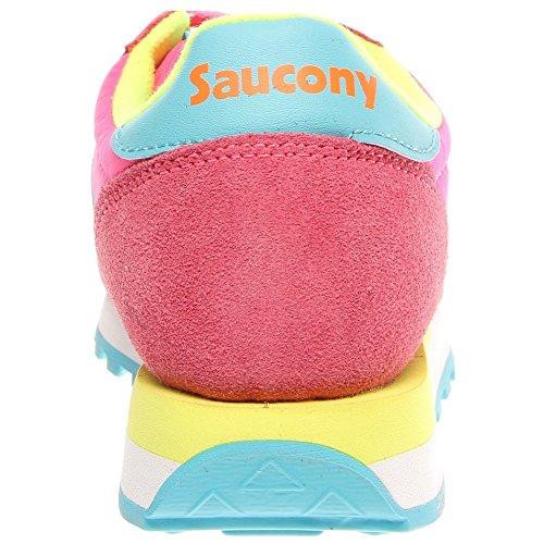 SAUCONY ORIGINALS  Saucony Jazz Original Women, Sneakers basses femme Pink/Yellow