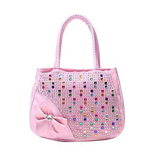 trass Mosaik Bogen Lederimitat Kind Handtasche Pink ()