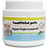 Healthful Pets Organic Virgin Coconut Oil for Dogs and Cats 500ml