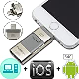 JT Genuine 100% Capacity 64GB OTG Flash Drive for iPhone iPad iOS Android