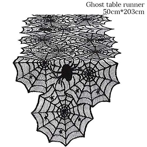 WSCOLL Schwarz Orange Scary Skull Handform Gabel Löffel Messer Einweggeschirr Besteck Kit Halloween Party Tischdekoration Für ZuhauseTischdecke-C -