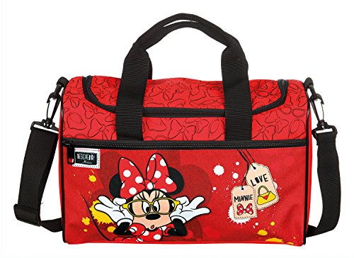 Scooli Sporttasche Disney Minnie Mouse, ca. 35 x 16 x 24 cm Sporttasche, 8 Liter, Rot