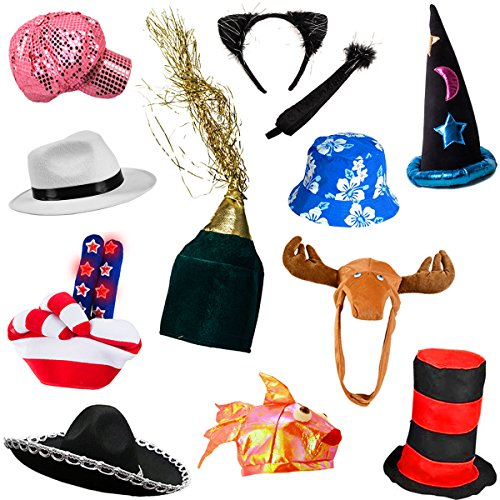 71c60885851 22% OFF on 6 Assorted Dress Up Costume   Party Hats by Funny Party Hats (6  Adult Costume Hats) on Amazon