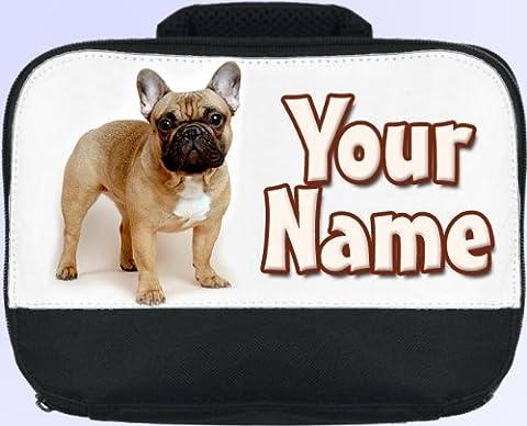Fawn French Bulldog Personalised Children's School Lunch Box / Bag