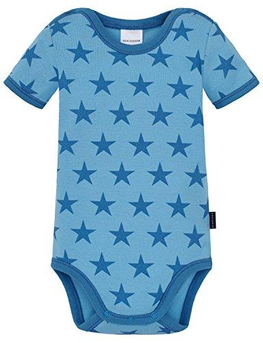 Schiesser baby body 1/2, intimo unisex-bimbi, blu (hellblau 805), 98 cm