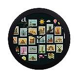 Moderne Simple Voyage Icônes Set Voyage Timbres-poste Modèle Horloge Murale Intérieur Non-ticking Silencieux Quartz Silencieux Mouvement De Balayage Mur Clcok Pour Bureau, salle de bains, salon Décor