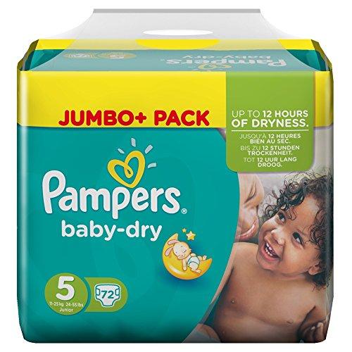 Preisvergleich Produktbild Pampers Baby Dry Größe 5 Junior 11-25kg Jumbo Plus Pack (1 x 72 Windeln)