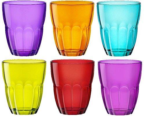 Bormioli Rocco Ercole de colores Set de vasos–(230ml)–Multi Color–Juego de 6