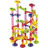 XUELIEE XUELIEE 105 Pcs Marble Run Coaster Set Marble Genius Balls Toys Race Run Maze Building Blocks Construction Toys DIY Maze Toy Building Blocks Toys