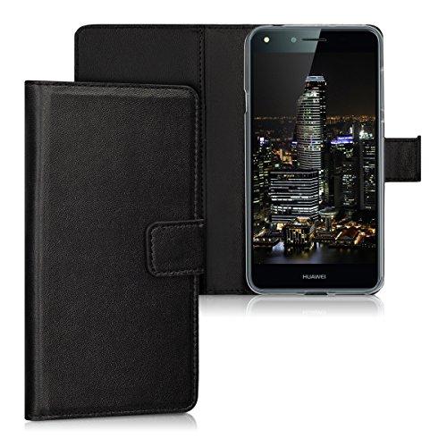 kwmobile Huawei Y6 II Compact (2016) Hülle - Kunstleder Wallet Case für Huawei Y6 II Compact (2016) mit Kartenfächern und Stand