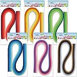 Juya Papier Quilling Set 54cm Länge Bis zu 42 Shade Farben 6 Stück(42 Farben, Breite 3mm)