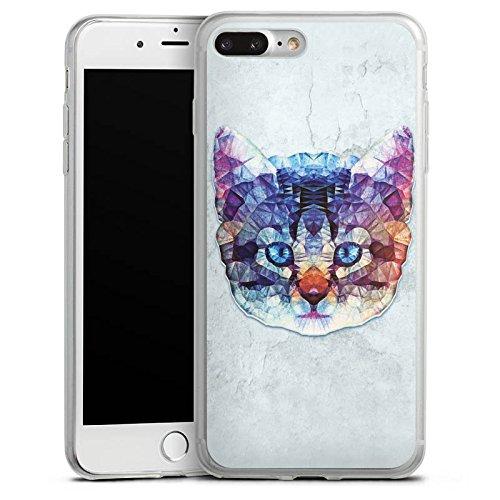 Apple iPhone 8 Slim Case Silikon Hülle Schutzhülle Rainbow Cat Katze Kitten Silikon Slim Case transparent
