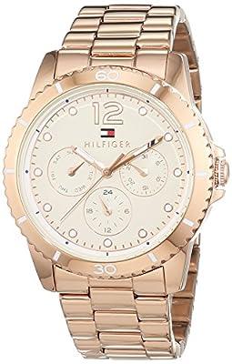 Tommy Hilfiger-Reloj de pulsera analógico para mujer cuarzo, revestimiento de acero inoxidable 1781584