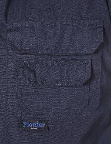 PIONIER WORKWEAR Herren Popeline-Arbeitsweste Winter in marineblau (Art.-Nr. 801) Schwarz