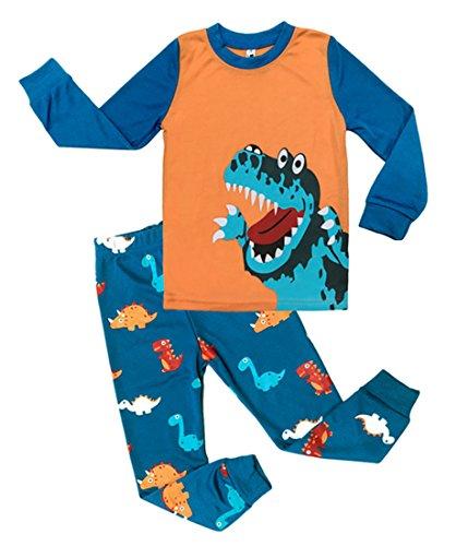 Tkria Kinder Jungen Schlafanzug Dinosaurier Pyjama Set 92 98 104 110 116 122 (Dinosaurier-kurz-schlafanzug)
