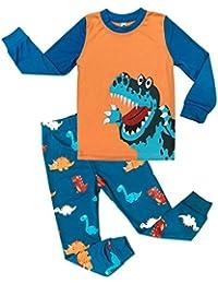 Tkria Enfants Garçons Ensembles de pyjama Mignonne Dinosaur,1-7 Ans