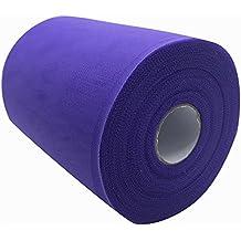 Carrete de tela de tul de 15,2 cm x 91,4 m,