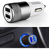 SNSIA - Dual USB Car Charger For Mobile Phones, 5V 2.1 A