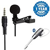 #7: Captcha Lavalier Mini Clip-on Microphone 3.5mm for Lectures, Teaching, and making YouTube With Stylish Bluetooth HM1000 Stereo Headset with Mic Compatible With Xiaomi, Lenovo, Apple, Samsung, Sony, Oppo, Gionee, Vivo Smartphones (One Year Warranty)