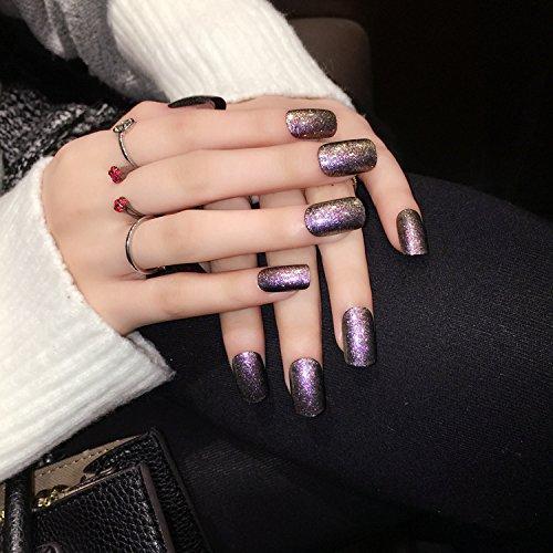 yunai-vernice-falsa-francese-rosso-corto-chiodi-fake-nails-punte-con-chiodi-di-punta-con-semplicita-