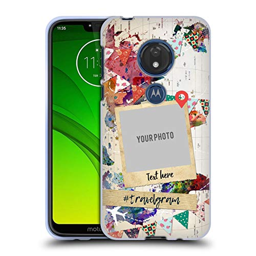 Head Case Designs Personalisierte Individuelle Pop Kultur Karte Der Welt Soft Gel Huelle kompatibel mit Motorola Moto G7 Play