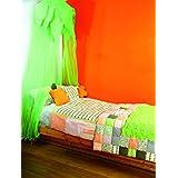 Baby Boum 102COTTY74/IT Cotty Rappezzatura Juego de Edredón de Dibujo, Color Verde y Naranja