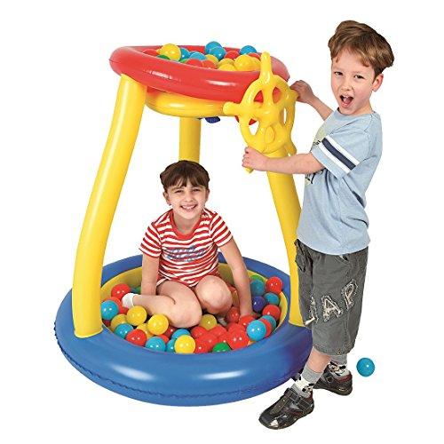 Jilong Pit Ball Pool Ø93x96cm Bällebad mit Spielbälle Planschbecken Kinderpool Becken inkl. 25 Bälle