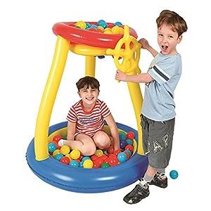 JILONG Pit Bola Juego Piscina - Piscina de Bolas para niños, Incl. 25 Bolas, para niños a Partir de 3 años Ø93x96 cm