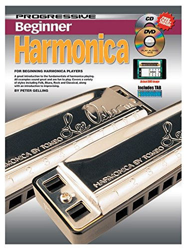 Peter Gelling: Progressive Beginner Harmonica - Partitions, Livre, CD, DVD (Région 0)