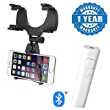 #8: Drumstone Car audio Bluetooth Transmitter Clip-on Wireless Receiver 3.5mm Jack Bluetooth Audio Music adapter And Car Rear View Mirror Mount Holder Stand Cradle Bracket Compatible With All Smartphones (One Year Warranty)
