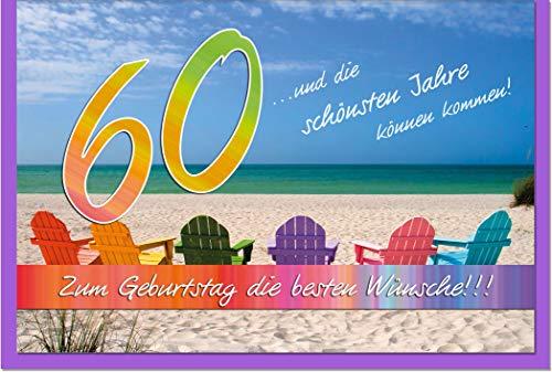 metALUm Karte zum 60. Geburtstag STRAND | 1018005S