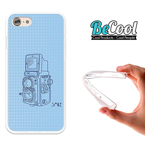 BeCool®- Coque Etui Housse en GEL Flex Silicone TPU Iphone 8, Carcasse TPU fabriquée avec la meilleure Silicone, protège et s'adapte a la perfection a ton Smartphone et avec notre design exclusif. App L1478