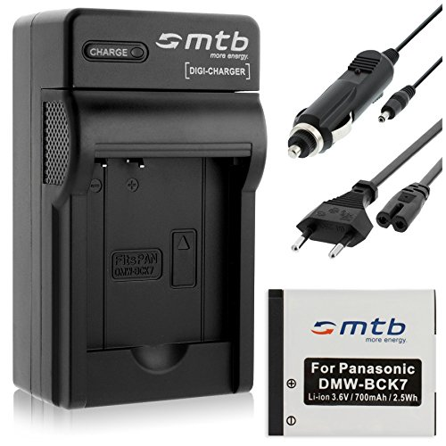 Batteria + Caricabatteria (Auto/Corrente) per Panasonic DMW-BCK7 / Lumix DMC-FH, FP, FS, FT, FX.- vedi lista!