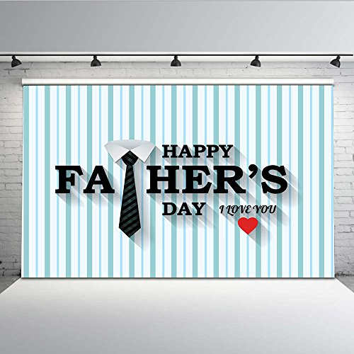 mehofoto 7x 150Vinyl Happy Father 's Day Kragen weiß Krawatte schwarz Hintergrund Nahtlose Leichte Carry Photo Booth Requisiten (Booth Schwarze Krawatte Photo)
