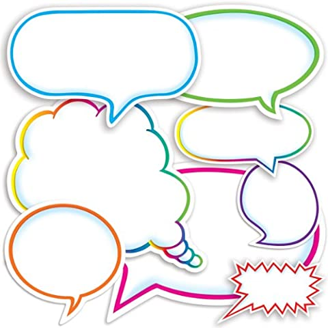 Dialogue Bubbles Accent Punch-Outs