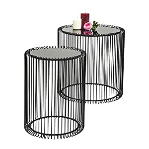 Kare design wire side table metal black amazon kitchen home kare design wire side table metal black greentooth Images