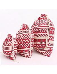 Designeez Women Printing Drawstring Bag Beam Port Storage Bag Shopping Travel Bag Backpack (S)