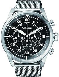 Citizen Herren-Armbanduhr Chronograph Quarz Edelstahl CA4210-59E
