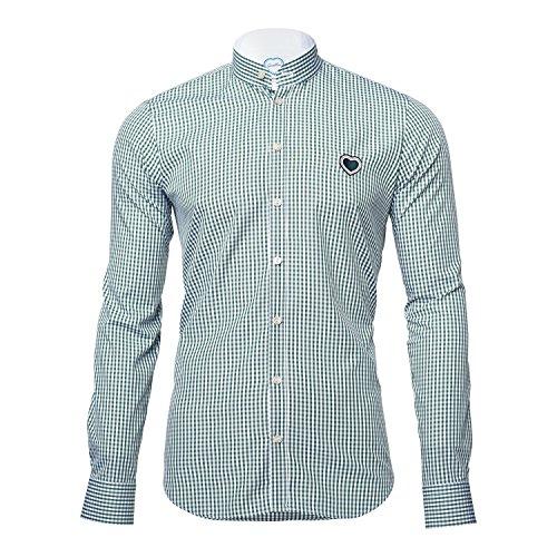 GaudiHerz - Trachtenhemd - dunkelgrün (S)
