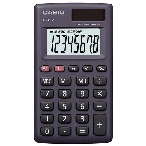 Casio Rechner Mini HS-8LV-BK-W
