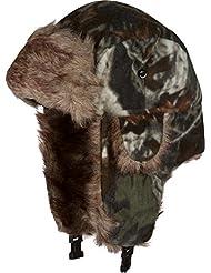 Gorro de invierno de camuflaje unisex imitación piel con banda de ajuste Sakkas Yehuda