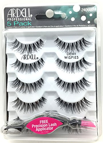 Ardell Lash Applikator (Ardell Professional 5 Pack Demi Wispies With Free Precision lash Applicator)