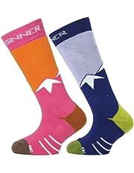 Sinner par de calcetines, color Varios colores - Pink/Purple Mountains, tamaño FR : chaussettes : 27-30 (Taille Fabricant : 27-30)