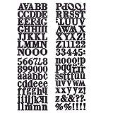Darice 30052925 Briefaufkleber, groß, Schwarz, 156 Stück