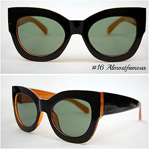 Il gatto nero/ambra VTG 50s/60s da donna, stile occhi di gatto occhiali da sole occhiali retrò Rockabilly Vintage UK mondo Eye Wear