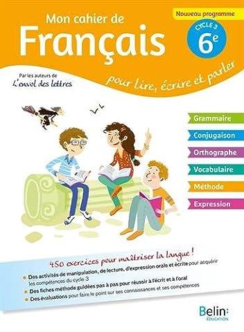 Mon cahier de français