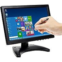 Pantalla 10.1 Pulgadas TOGUARD Monitor con Pantalla Táctil LED en Color, Visualización de Monitor 1280*800 Pantalla de Vigilancia, incluyen Salida VGA/AV/BNC/HDMI/USB y Altavoz Integrado