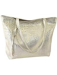 63a87f298d crocodile faux leather women bag tote fashion tote handbag large capacity  bolsa feminina casual tote shopping