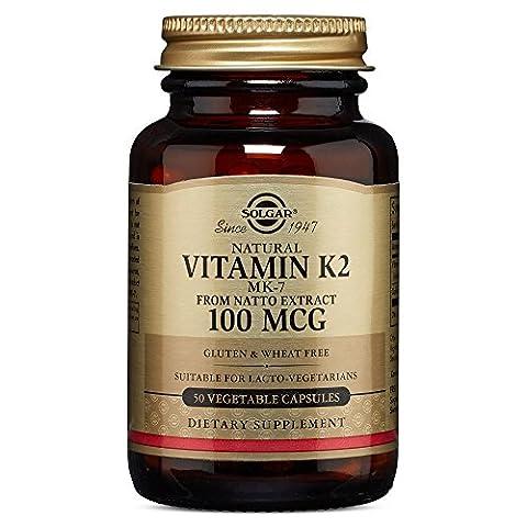 Vitamine K2 - Solgar Vitamine K2 MK7 50 Gélules